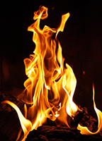 発火の様子