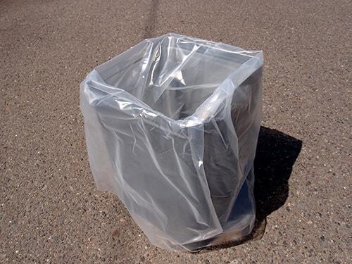 三層ポリ袋(ビニール袋)の使用例