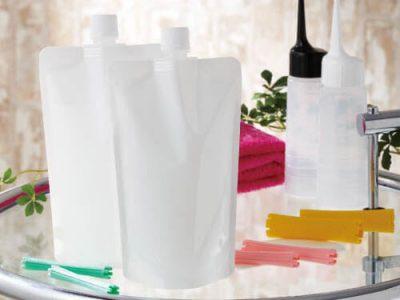 パーマ剤、ヘアカラー剤用詰替え袋