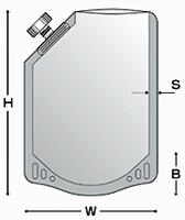 キャップ付アルミスタンド袋