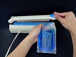 注ぎ口付(キャップ付)アルミスタンド袋の密封方法