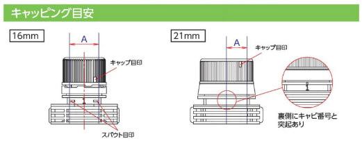 注ぎ口付アルミスタンド袋(センターキャップ)の密封方法