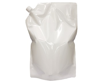 キャップ付乳白大型スタンド袋