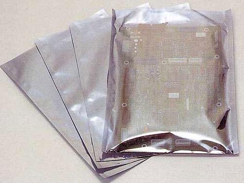 帯電防止アルミ蒸着三方シール袋 半透明全体