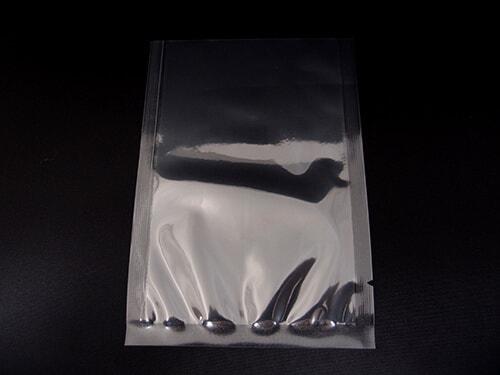 真空用ナイロンポリ三方シール袋(フィルム厚さ0.08mm)